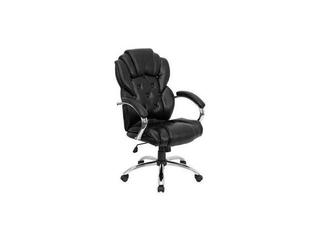 Flash Furniture High Back Transitional Style Black Leather Executive Office Chair [GO-908A-BK-GG]