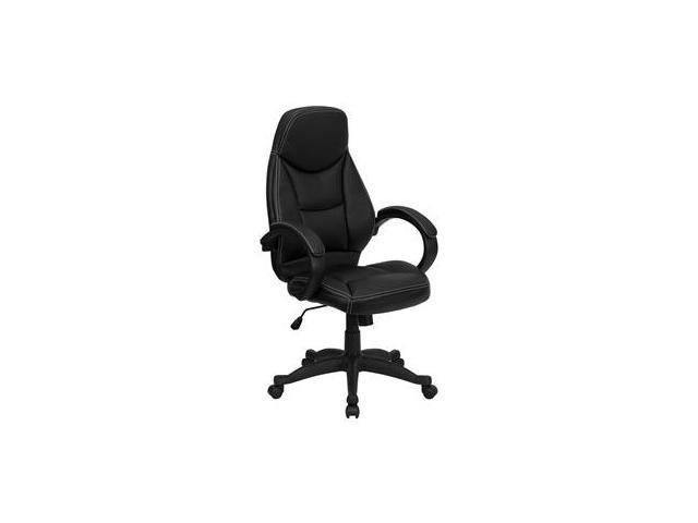 Flash Furniture High Back Black Leather Contemporary Office Chair [H-HLC-0005-HIGH-1B-GG]
