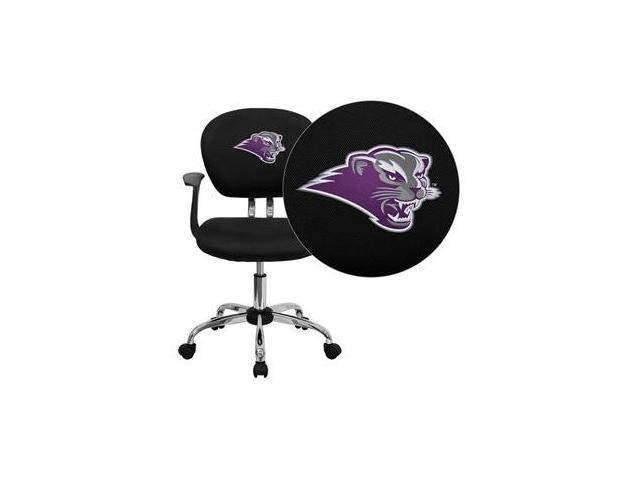 Flash Furniture Southwest Baptist University Bearcats Embroidered Black Mesh Task Chair with Arms and Chrome Base [H-2376-F-BK-ARMS-41072-EMB-GG]