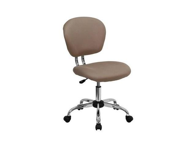 Flash Furniture Mid-Back Coffee Brown Mesh Task Chair with Chrome Base [H-2376-F-COF-GG]