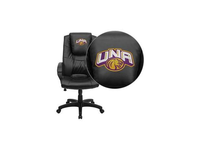 Flash Furniture North Alabama Lions Embroidered Black Leather Executive Office Chair [GO-5301BSPEC-BK-LEA-41090-EMB-GG]