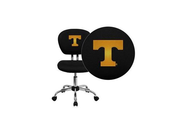 Flash Furniture Tennessee Volunteers Embroidered Black Mesh Task Chair with Chrome Base [H-2376-F-BK-40005-EMB-GG]