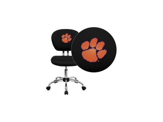 Flash Furniture Clemson University Tigers Embroidered Black Mesh Task Chair with Chrome Base [H-2376-F-BK-40006-EMB-GG]