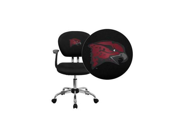 Flash Furniture Maryland Eastern Shore Hawks Embroidered Black Mesh Task Chair with Arms and Chrome Base [H-2376-F-BK-ARMS-41085-EMB-GG]
