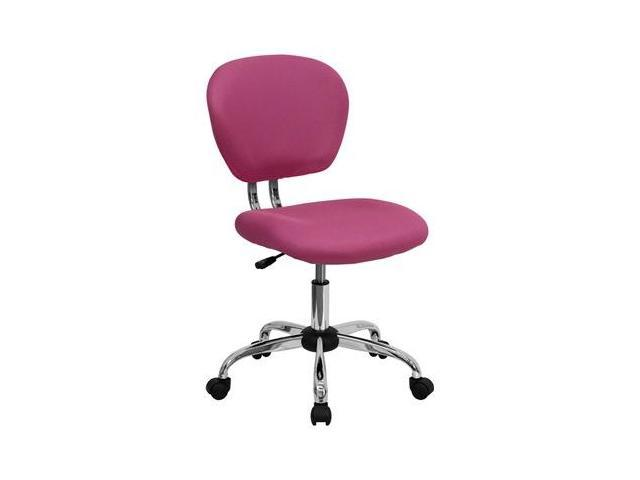 Flash Furniture Mid-Back Pink Mesh Task Chair with Chrome Base [H-2376-F-PINK-GG]