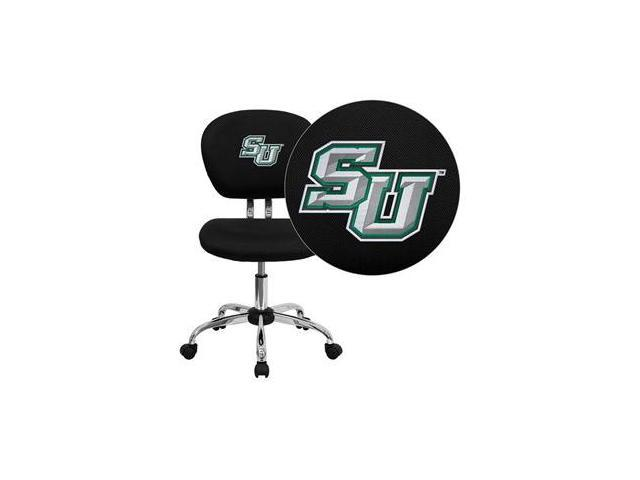 Flash Furniture Stetson University Hatters Embroidered Black Mesh Task Chair with Chrome Base [H-2376-F-BK-41075-EMB-GG]