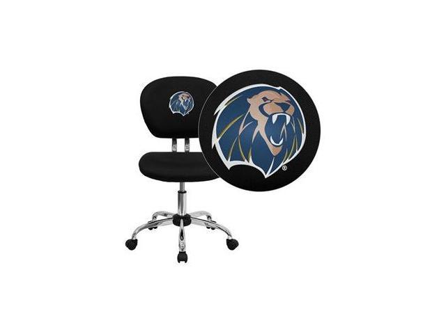Flash Furniture Arkansas Fort Smith Lions Embroidered Black Mesh Task Chair with Chrome Base [H-2376-F-BK-41080-EMB-GG]