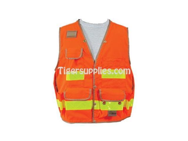 Seco 8068-Series Class 2 Lightweight Safety Utility Vest M-Medium Fluorescent Orange