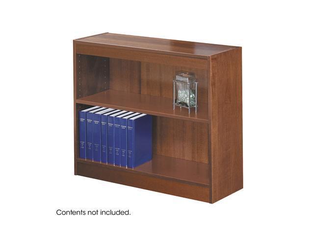 Safco 1501CY 2-Shelf Square-Edge Veneer Bookcase 36