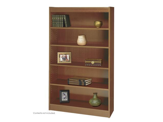 Safco 1504MOC 5-Shelf Square-Edge Veneer Bookcase 36