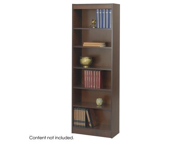 Safco 1512WLC 6-Shelf Veneer Baby Bookcase, 24