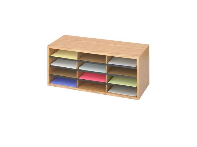 Safco 9401MO Wood/Corrugated Literature Organizer, 12 29