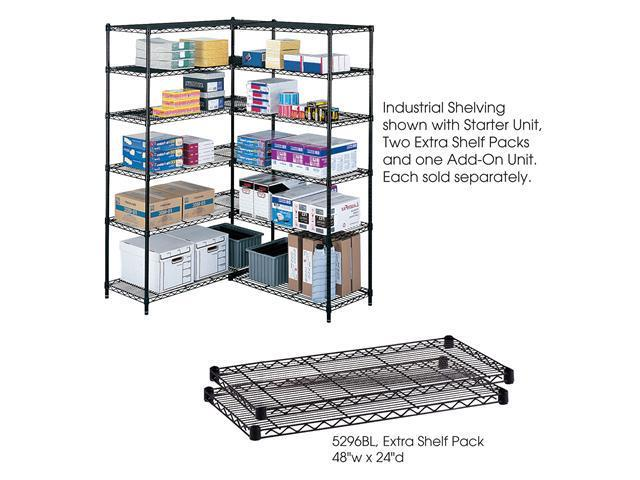 Safco 5296BL Industrial Extra Shelf Pack, 48 x 24