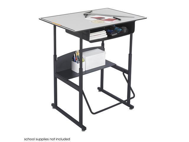 "Safco 1209GR AlphaBetter® Desk, 36 x 24 Premium Top, with Book Box 36""w x 24""d x 26"" to 42""h Black (frame) - OEM"
