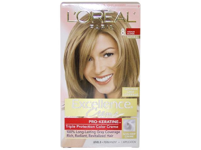 Excellence Creme Pro - Keratine # 8 Medium Blonde - Natural - 1 Application Hair Color