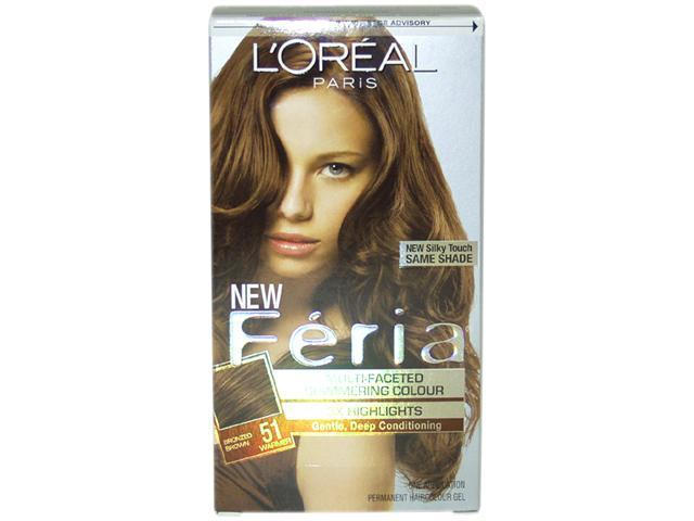 L'Oreal Feria Hair Color 51 Brazilian Brown - Bronzed Brown