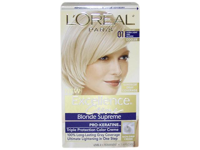 Excellence Creme Blonde Supreme # 01 High-Lift Extra Light Ash Blonde - Cooler by L'Oreal for Unisex - 1 Application Hair ...