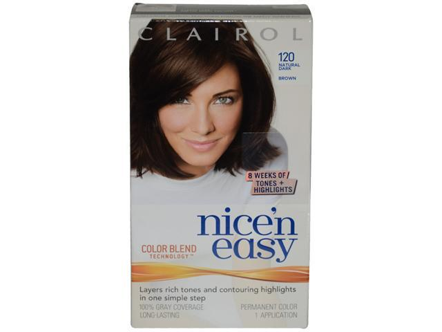 Nice'n Easy Color Blend # 120 Natural Dark Brown by Clairol for Women - 1 Application Hair Color