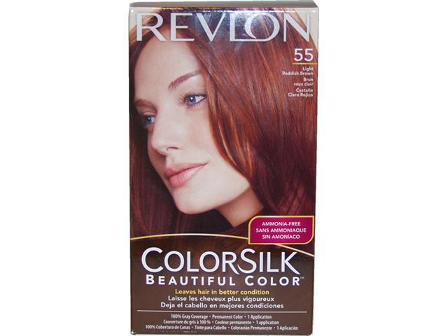 colorsilk Beautiful Color #55 Light Reddish Brown - 1 Application Hair Color