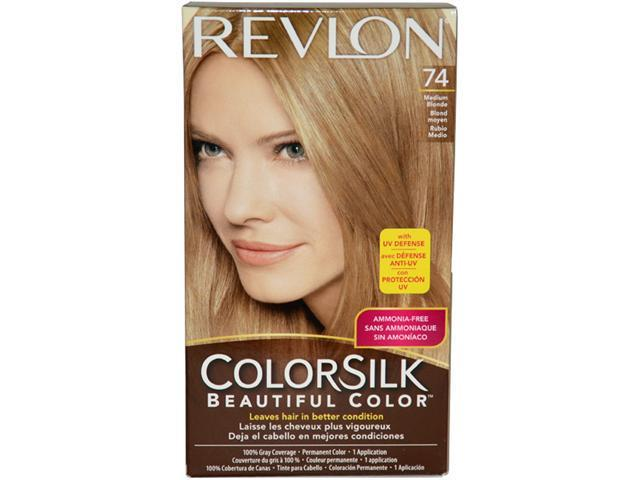 ColorSilk Beautiful Color #74 Medium Blonde by Revlon for Unisex - 1 Application Hair Color