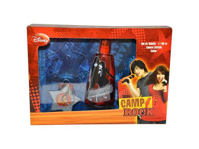 Camp Rock by Disney for Kids - 3 Pc Gift Set 3.4oz EDT Spray, Llavero Estrella, Collar