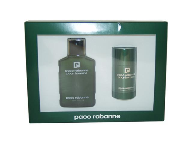 Paco Rabanne by Paco Rabanne for Men - 2 Pc Gift Set 3.4oz EDT Spray, 2.2oz Deodorant Stick