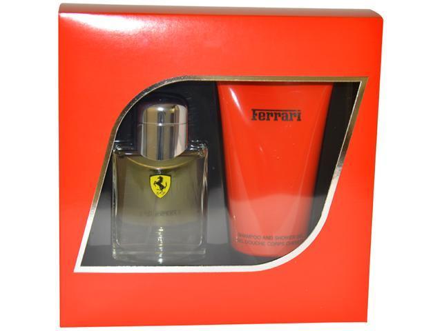 Ferrari Red by Ferrari for Men - 2 Pc Gift Set 2.5oz EDT Spray, 5oz Shampoo and Shower Gel