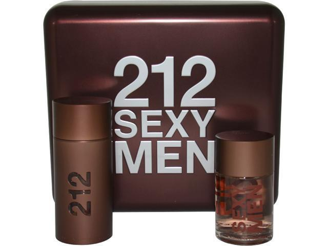 212 Sexy by Carolina Herrera for Men - 2 Pc Gift Set 3.4oz EDT Spray, 3.4oz After Shave Lotion