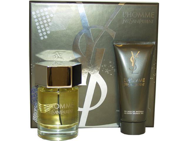 L'Homme by Yves Saint Laurent for Men - 2 Pc Gift Set 3.3oz EDT Spray, 3.3oz All Over Shower Gel