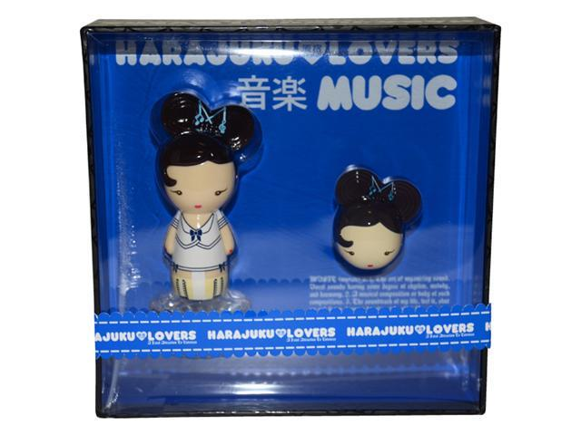 Harajuku Lovers Music by Gwen Stefani for Women - 2 Pc Gift Set 1.0oz EDT spray,0.04oz Solid Perfume