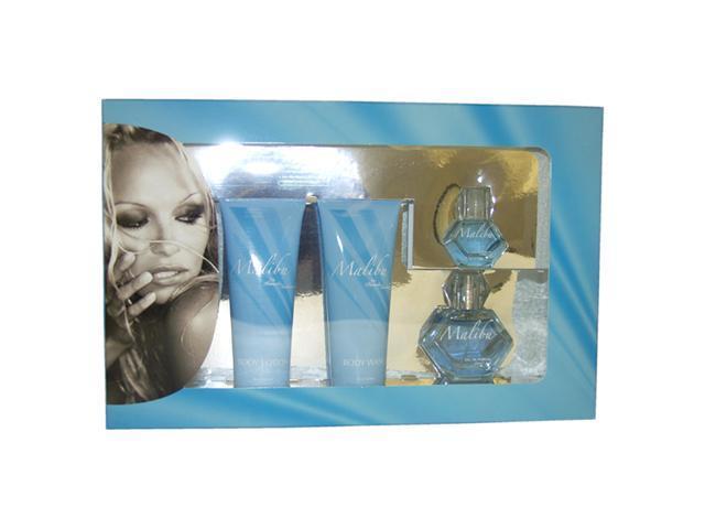 Malibu by Pamela Anderson for Women - 4 Pc Gift Set 1.7oz EDP Spray, 4oz Body Lotion, 4oz Body Wash, 0.5oz EDP Splash