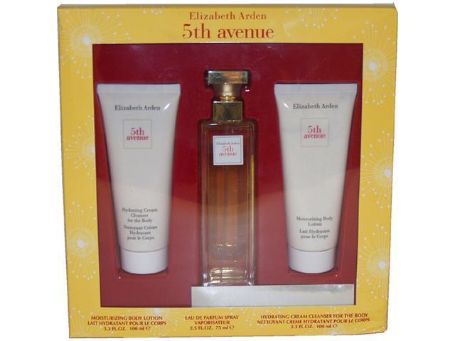 5th Avenue by Elizabeth Arden for Women - 3 Pc Gift Set 4.2oz EDP Spray, 3.3oz Moisturizing Body Lotion, 3.7ml Parfum Extract