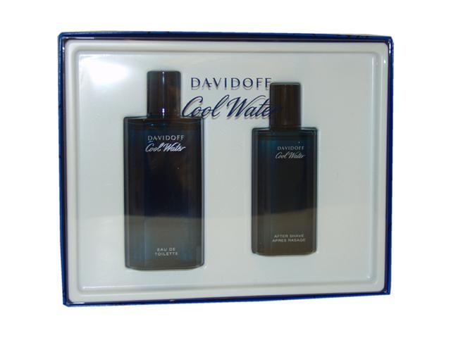 Cool Water by Zino Davidoff for Men - 2 Pc Gift Set 4.2oz EDT Spray, 2.5oz After Shave Splash