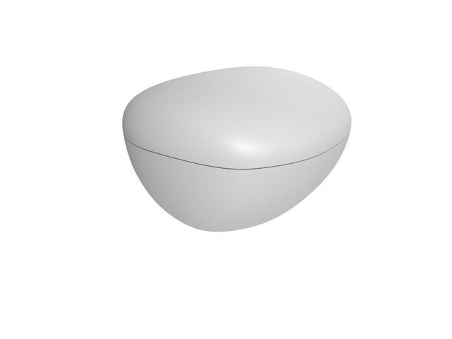 U-CUBE Pebble Series Polar Ice Tray - White
