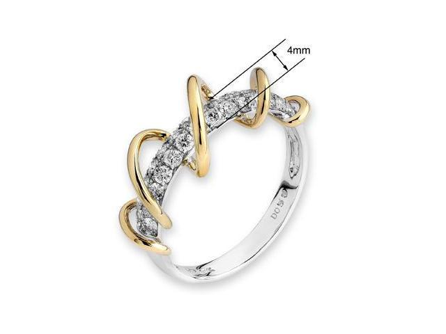 18K/750 Yellow and White Gold Cocktail Pave-Setting Diamond Ring (0.60cttw, G-H Color, VS2-SI1 Clarity, Ring Size US 6.5)