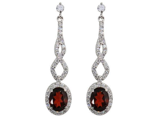 JA-ME Natural red garnet Pierced earring