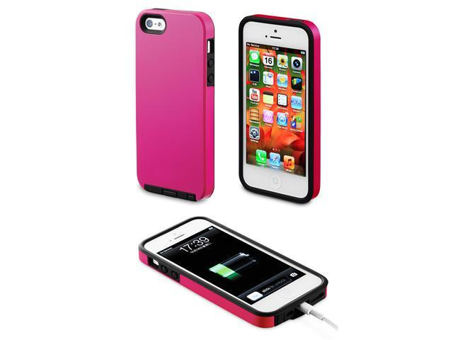 For iPhone 5 Acase Superleggera Pro Dual-Layer Protection Case/Cover - Hot Pink