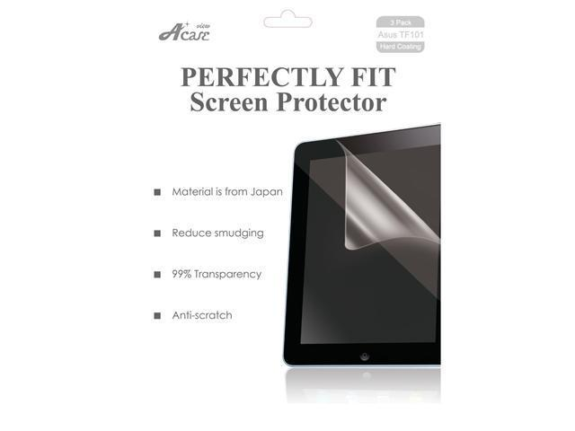 Acase(TM) Asus EEE Pad Transformer AcaseView Screen Protector Film Clear (Invisible) for Asus EEE Pad Transformer 10.1 inch Touchscreen Tablet (3 Pack)