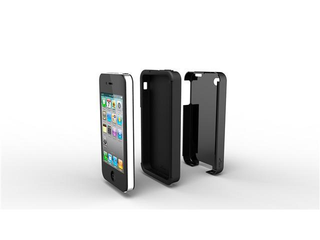 Acase Superleggera PRO Dual Layer Protection Case for iPhone 4S/4 (Black/Black)