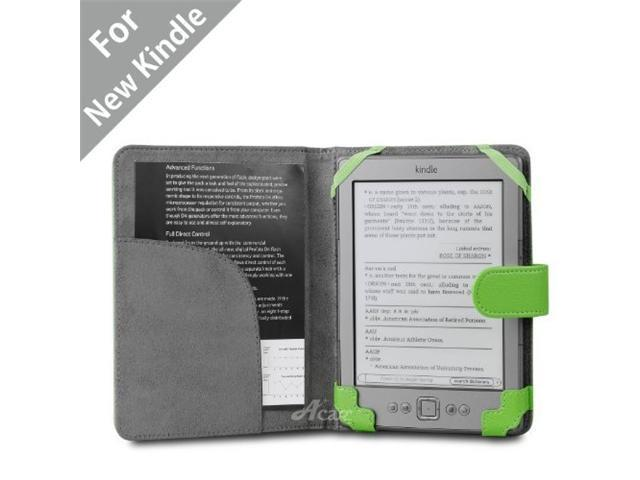 Acase(TM) Classic Kindle 4 (Lastest Generation, Not for Kindle Touch) Leather Case (Apple Green)