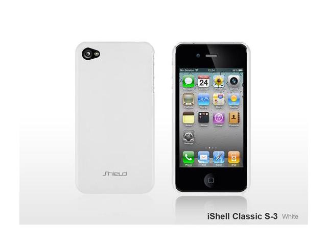 SHIELD iShell Classic S3 Ultra-Slim Highly durable Polycarbonate Case (White) for iPhone 4 / 4S