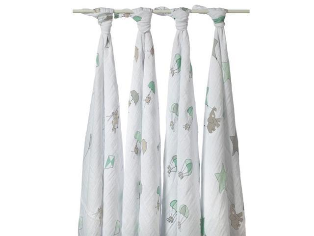 aden + anais Swaddle 4-Pack (Up Up and Away)