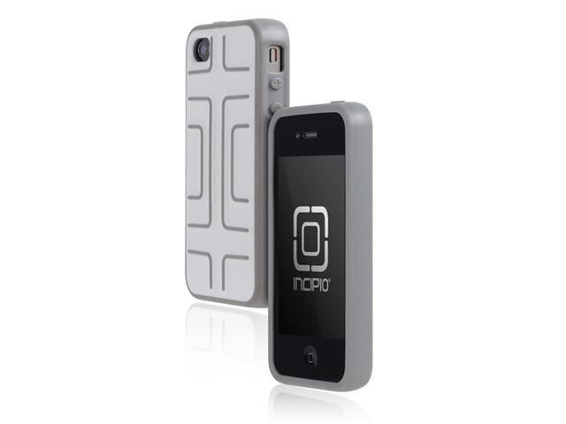 Incipio Step Semi-Rigid Soft Shell Case Cover for Apple iPhone 4/4S White/Gray IPH-613