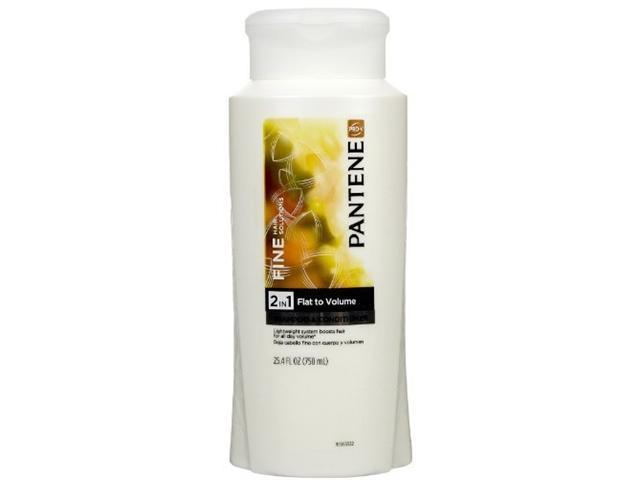 Pantene Pro-V Fine Hair Solutions Shampoo & Conditioner, 2 in 1, Flat to Volume, 25.4 oz.