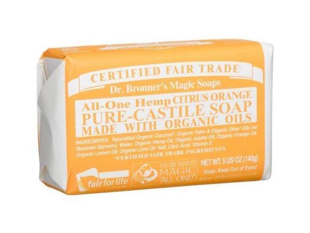 Bar Soap - Citrus Pure Castile - Dr. Bronner's - 5 oz - Bar