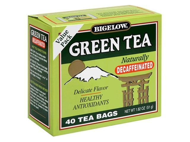 Bigelow Decaffeinated Green Tea, 40-Count Boxes (Pack of 6)