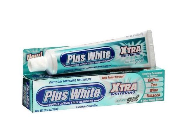Plus White Xtra Whitening Gel Toothpaste-3.5 oz