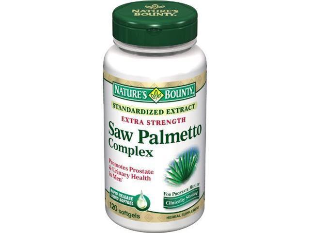 Nature's Bounty Extra Strength Saw Palmetto Complex, 120 Softgels