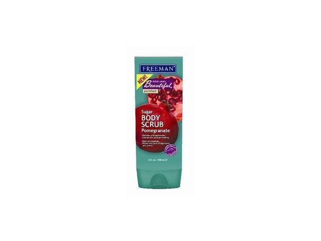 Freeman Feeling Beautiful Sugar Body Scrub, Pomegranate 6 fl oz (150 ml)