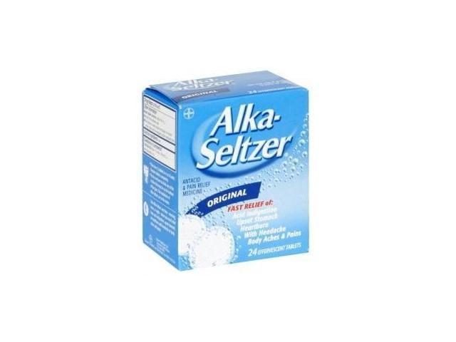 Alka-Seltzer Original Effervescent Tablets With Aspirin 24-Count